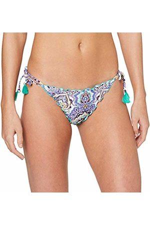 Seafolly Women's Summer Chintz Brazilian Tie Side Bikini Bottoms, Antiguablu