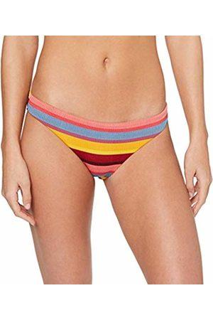 Seafolly Women's Baja Stripe Hipster Bikini Bottoms, Saffron