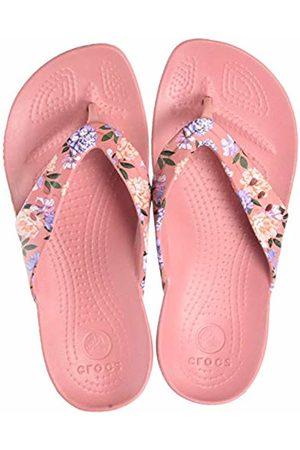 Crocs Women's Kadee Seasonal Printed Flip Flops, (Floral/Blossom 9a5)