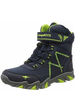 KangaROOS Unisex Kids' K-Tian RTX Snow Boots, Blau (Dk Navy/Lime 4054)