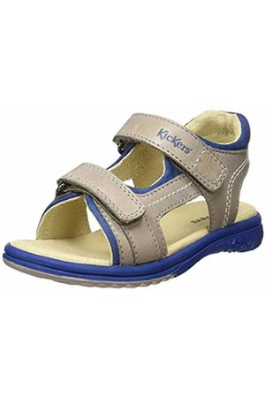 Kickers Boys' Platino Open Toe Sandals, (Gris Bleu 123)