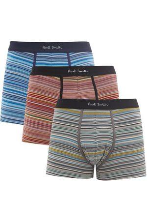 Paul Smith Men Briefs - Pack Of Three Striped Stretch-cotton Boxer Briefs - Mens