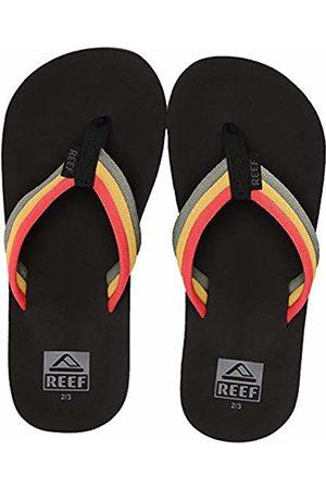 Reef Boys' Kids Ahi Beach Flip Flops, (Rasta RST)