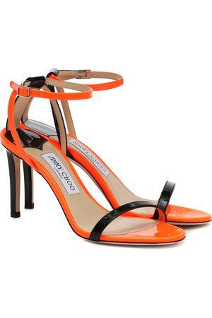 Jimmy choo Minny 85 patent-leather sandals