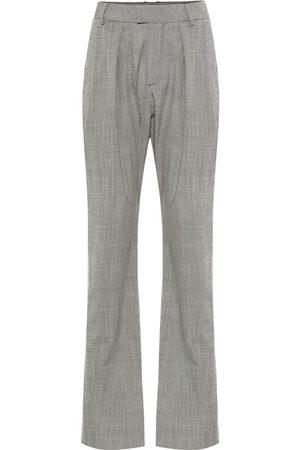 MATTHEW ADAMS DOLAN High-rise stretch-wool pants
