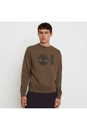 Timberland ® x woodwood crew sweatshirt for men in grey greige, size l