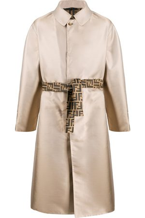 Fendi Single-breasted belted trench coat - NEUTRALS