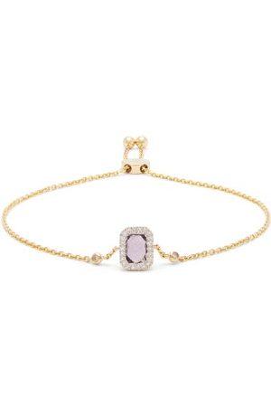 Anissa Kermiche February Diamond, Amethyst & 14kt Gold Bracelet - Womens