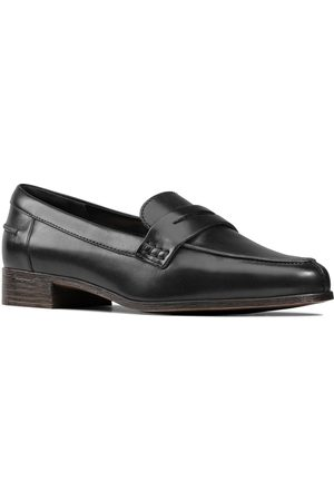 Clarks Hamble Leather Loafers - Black