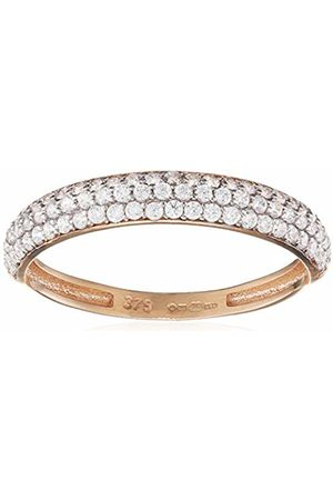 Citerna Women's 9 ct Rose Pave Set Cubic Zirconia Half Eternity Ring