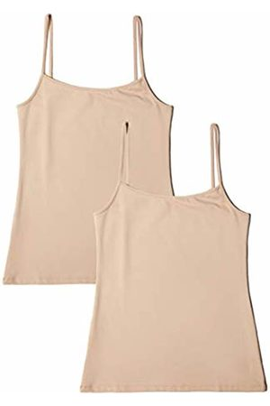 IRIS & LILLY Women's Basic Microfibre Tank Vest, Pack of 2