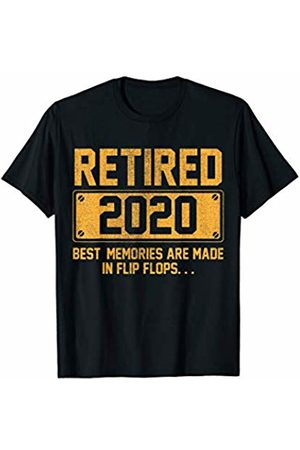Retired 2020 - Retirement Gifts For Men and Women Retired 2020 Gift Best Memories Are Made In Flip Flops T-Shirt