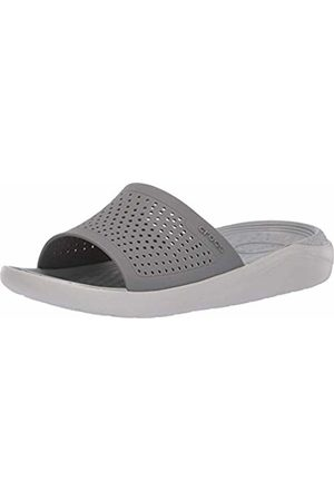 Crocs Literide Slide, Unisex Adult's Open Toe Sandals, (Smoke/Pearl 06J)