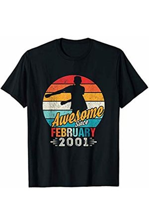 Vintage 19th Birthday Trendy Flossing Apparel Gift Vintage February 2001 Birthday Floss Present for 19 Year Old T-Shirt