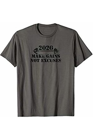 Motivational Gifts that Inspire and Encourage 2020 Make Gains not Excuses/Weight training/Weight Lifting T-Shirt