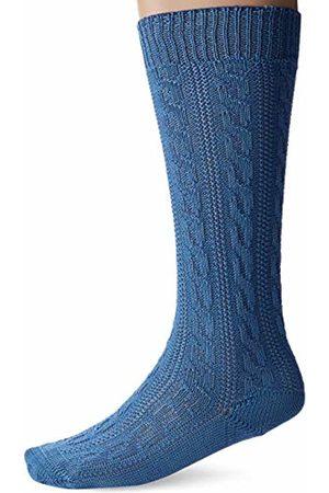 LUSANA Men's Trachtenkniestrumpf Mammendorf Traditional Costume Tights - Blau (trachtenblau 31) 5/6