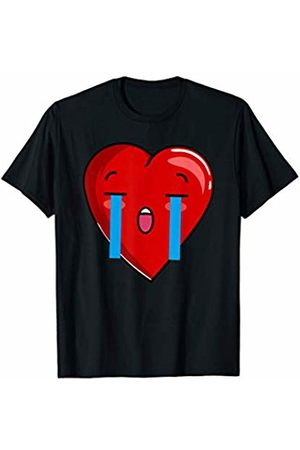 Matching Couples Valentines Day T Shirts Co. Her Crying Kawaii Heart Couple Matching Funny Valentines Day T-Shirt