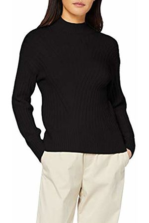 warehouse Women's Cosy Wide Travelling Rib Funnel Jumper Sweater