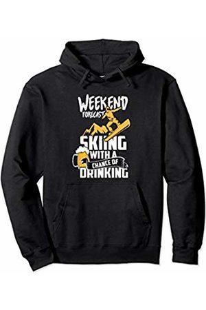 cool skiing stuff Funny Weekend Plans Skiing Drinking Skier Present Men Women Pullover Hoodie
