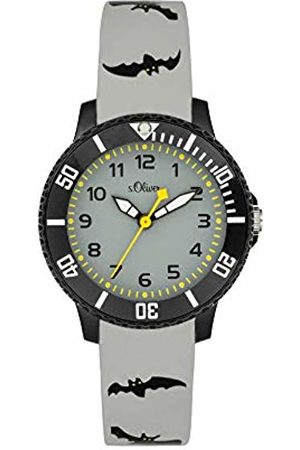 s.Oliver Boy's Analogue Quartz Watch with Silicone Strap SO-4001-PQ