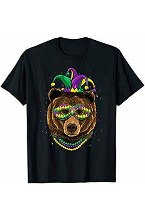 Wowsome! Bear Animal Lover Cute Mardi Gras Carnival Jester T-Shirt