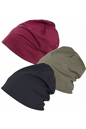 Build Your Brand Men's Jersey Beanie 3-Pack