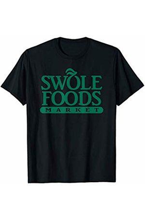 Organic Vegan Body Builder Gifts Swole Super Gym Bro Foods Funny Heavy Squatter T-Shirt