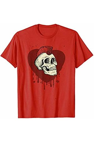 The Robot Ranger - Fun Apparel & Gifts Mohawk Skull Sweet Scary Heavy Metal Valentines Graphic T-Shirt