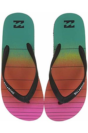 Billabong Men's Tides 73 Stripe Flip Flops, (Neon 5628)