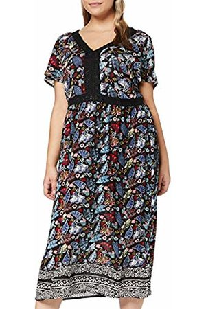 Ulla Popken Women's Maxikleid mit Häkeldetails Dress