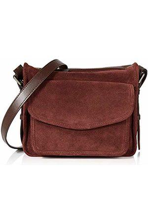 Hotter Womens Lois Cross-Body Bag (Maroon-Chocolate)