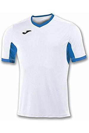 Joma Champion IV M/C Men's Equipment T-Shirt, Mens, 100683.207_XS, Bianco/Royal
