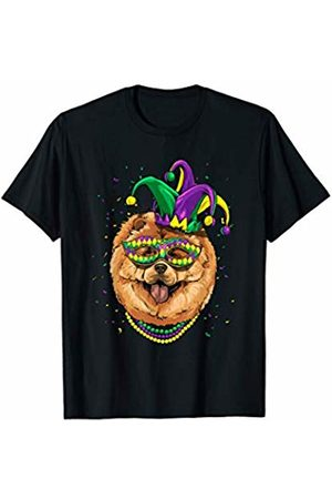 Wowsome! Chow Chow Dog Lover Cute Mardi Gras Carnival Jester T-Shirt
