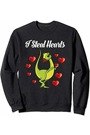 "Womens Valentines Day Tee Pro Womens Valentines Day Dinosaur "" I Steal Hearts "" T-rex Sweatshirt"