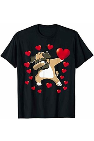 Dabbing Pug Heart Valentines Day Boys Kids Love Dog Lover T-Shirt