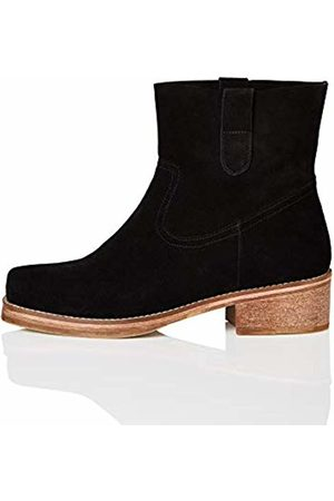 FIND Pull On Leather Cowboy Boots