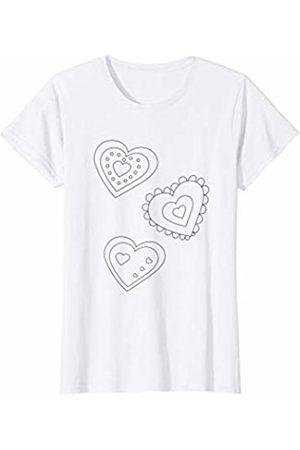 Lily Pad Tees Cute Hearts Coloring T-Shirt