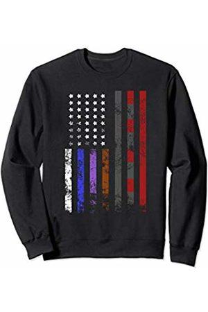 BJJ Mixed Martial Arts Gifts For Jiu Jitsu American Flag Brazilian Jiu-Jitsu BJJ Belts Men Boy Gift Sweatshirt
