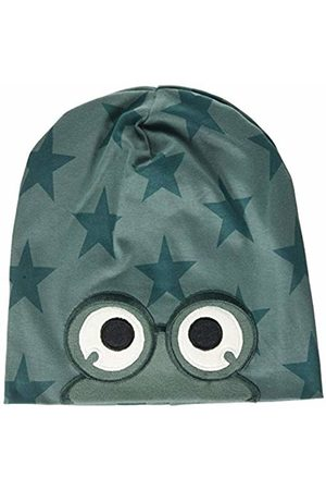 Green Cotton Boy's Star Peep Beanie Hat