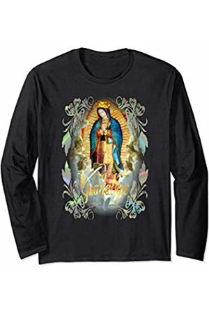 Catholic Church Jesus Virgin Mary Angels & Saints Our Lady of Guadalupe Catholic Mexican Virgin Mary 107 Long Sleeve T-Shirt