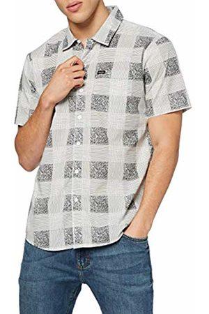 Brixton Men's S/S WVN Charter Plaid Short-Sleeved Woven Medium