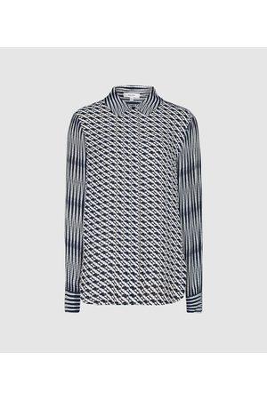Reiss Livvy - Diamond Printed Shirt in , Womens