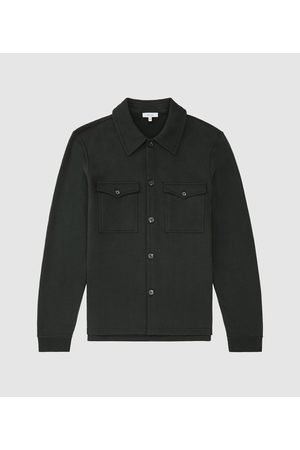 Reiss Dalston - Twin Pocket Jersey Overshirt in , Mens