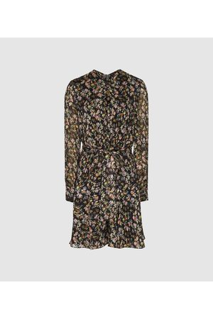 Reiss Phillippa - Silk Blend Burnout Mini Dress in , Womens