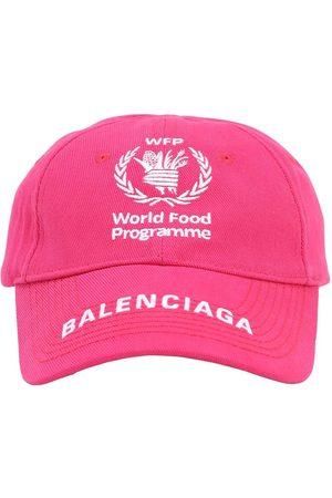 Balenciaga Wfp Print Cotton Baseball Hat