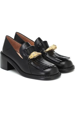Gucci Embellished leather loafers
