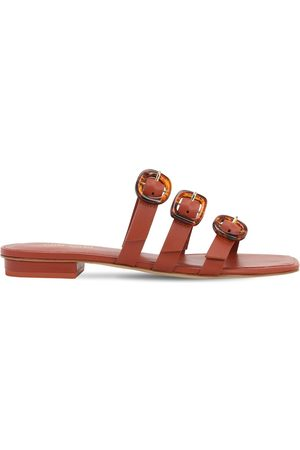 Cult Gaia 10mm Tallulah Leather Flat Sandals