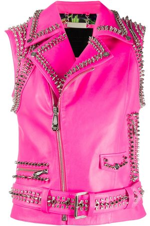 Philipp Plein Women Body Warmers - Studded fitted vest