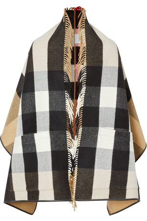 Burberry Check jacquard cape - Neutrals