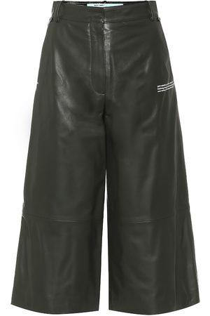 OFF-WHITE Leather culottes